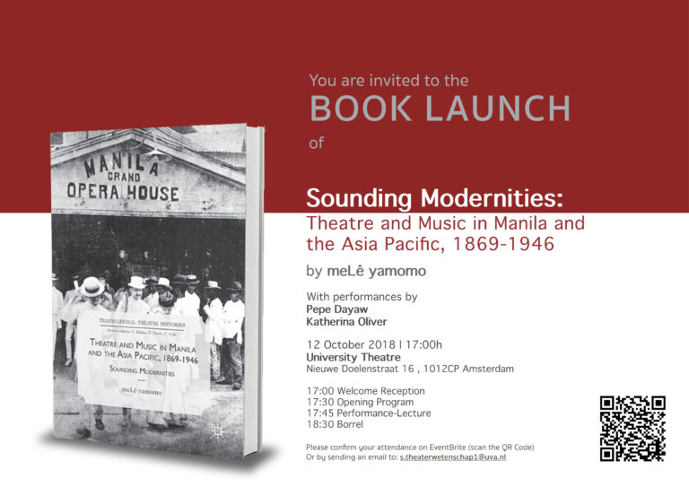 Book Launch: »Sounding Modernities: Theatre and Music in Manila and the Asia Pacific, 1869-1946«